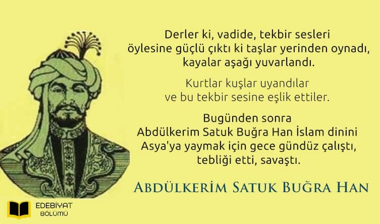 İlk-Müslüman-Türk-Hükümdar-Satuk-Buğrahan-Sözleri