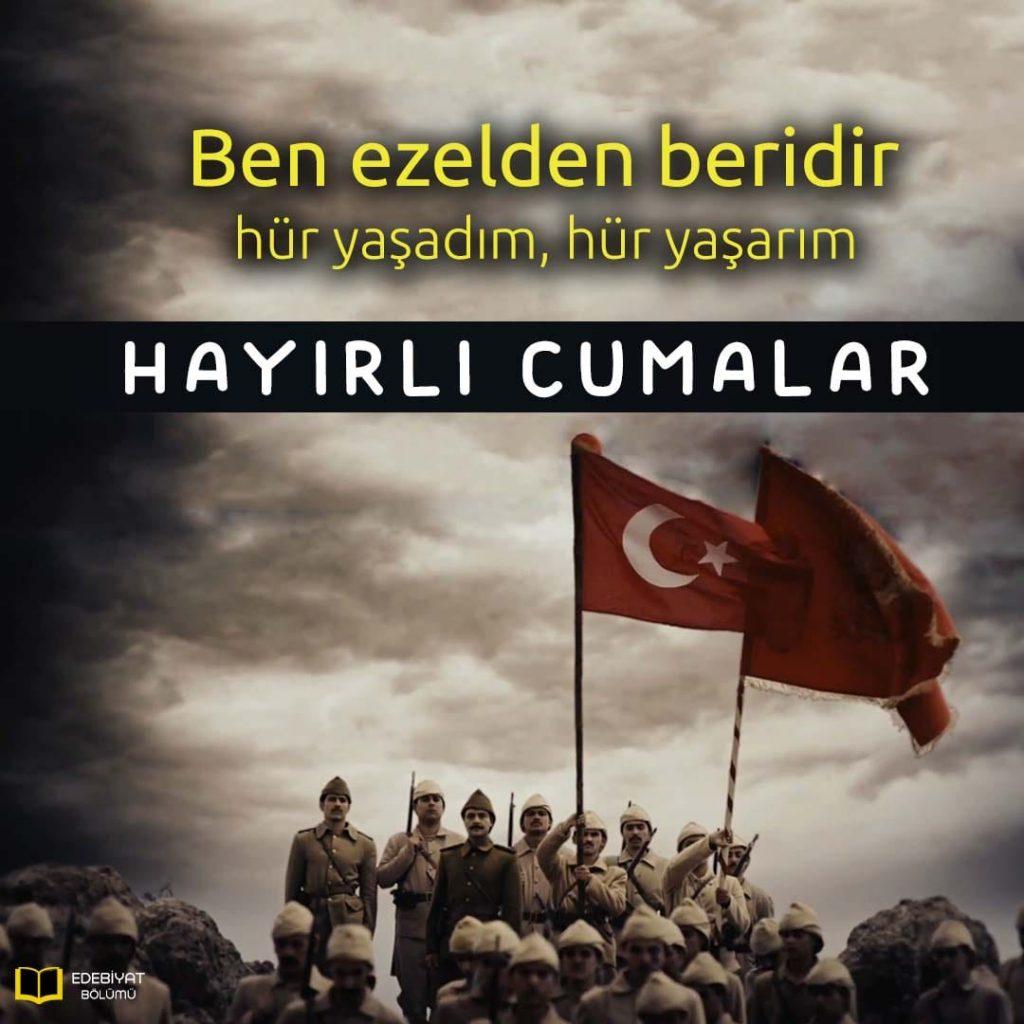 Bayraklı-Askerli-Türk-Bayrağı-Cuma-Mesajı
