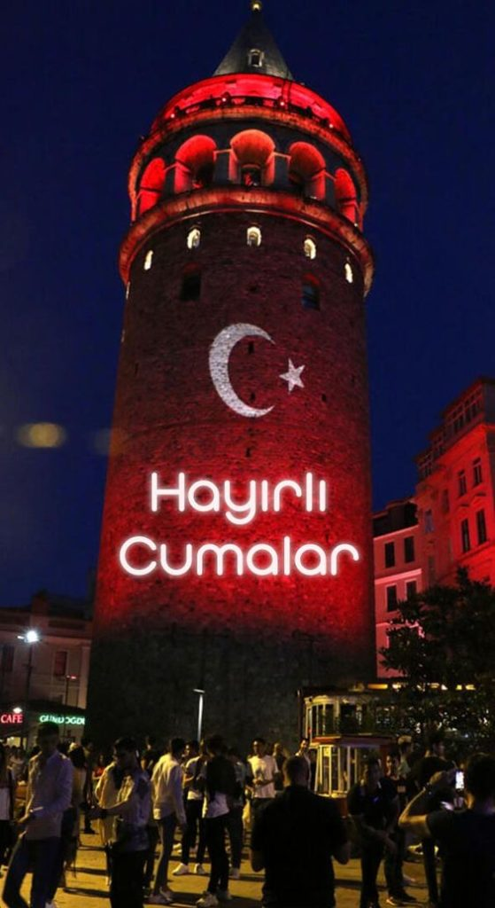 Galata-Kulesi-Türk-Bayraklı-Cuma-Mesajı