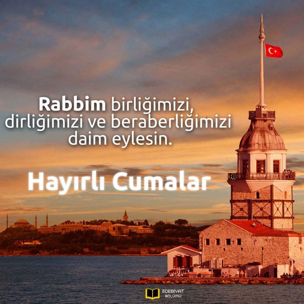Hayırlı-Cumalar-Mesajları-Türk-Bayraklı-İstanbul-Fotoğraflı