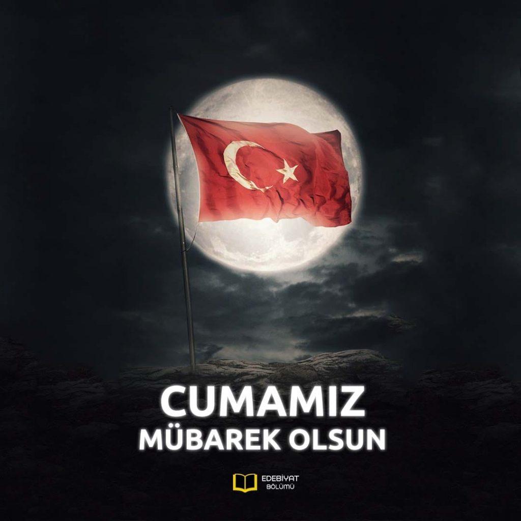 Türk-Bayraklı-Cumamız-Mübarek-Olsun-Mesajları